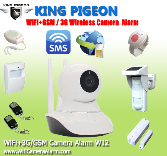 WIFI GSM alarm 3G camera spy with sim card W12